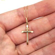 Pingente Crucifixo Cruz Masculina De Ouro 18k E Certificado