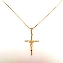 Pingente Crucifixo Masculino Ouro Amarelo 18k Certificado
