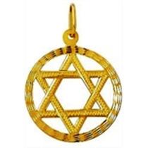 Estrela De Davi Salomao Hexagrama Pingente Em Ouro 18k 2.5cm