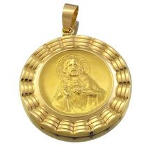 Pingente Nossa Senhora E Menino Jesus Em Ouro 18k J11687