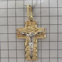 2699 Crucifixo De Ouro 18k 750 Lyz
