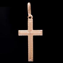 Pingente Crucifixo Sem Cristo Em Ouro 18k - 750 - 0,46grs