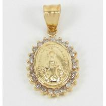 Esfinge Jóias- Pingente Nossa Senhora Diamantes Ouro 18k 750