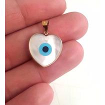 Decolar Joias Pingente Olho Grego Em Ouro 18k - Coração