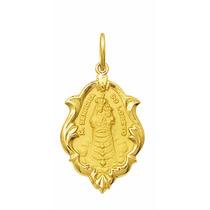 Medalha 2.6cm Nossa Senhora Do Loreto Ouro 18k Pingente