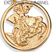 Rommanel Pingente Masculino São Jorge Folhea Ouro 18k 541256