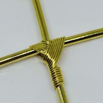 Pingente Cruz De Ouro 18k Entrelaçada, Crucifixo