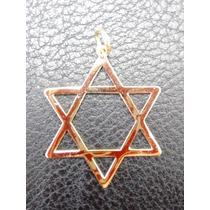 Leão Jóias Estrela De Davi 2,7cm De Ouro 18k Grande