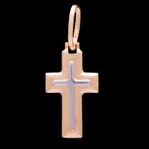 Pingente Crucifixo Sem Cristo Em Ouro 18k - 750 - 0,24grs
