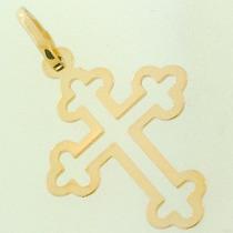 Pingente Cruz De Malta Vazada Em Ouro 18k Frete Grátis Br