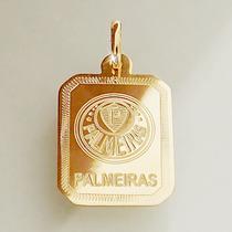 Pingente Palmeiras Ouro 18k 750 Feminino Masculino Com Hino