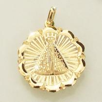 Pingente Nossa Senhora Aparecida Padroeira Ouro 18k 750