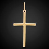 Pingente Crucifixo Palito Em Ouro 18k - 750 - 4cm - 2,15gr