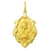 Medalha São João Em Ouro 18k Ornato 2,5cm 2,30g