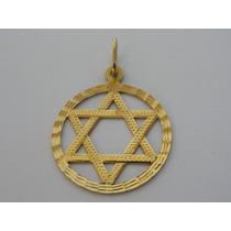 Pingente / Medalha De Ouro 18k - Estrela De Davi - Lindo !