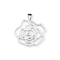 Pingente Flor Vazado Em Prata De Lei 950