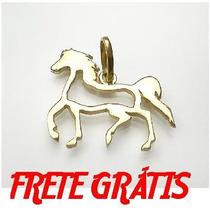 Pingente Prata Banho Ouro Cavalo Cavalinho Frete Gratuito
