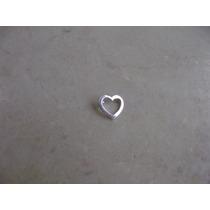 Pingente Coração Vazado Prata 950