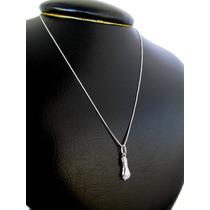 Corrente+ Pingente Figa Amuleto Sorte Prata 925 Frete Grátis