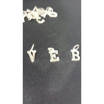 Pingente Letra Em Prata 950 Com Marcassita