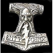 Pingente Martelo De Thor Mjölnir: Blitzkreig 4cm Com Colar