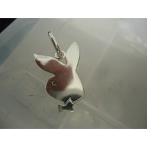 Belo Pingente Em Prata 925 Coelhinha Da Playboy-3cmx2cm