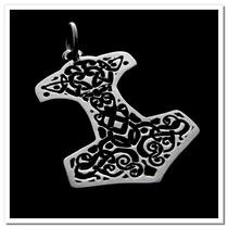 Pingente Em Prata 925 - Martelo De Thor - Mjölnir - 1280