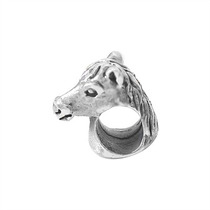 Pingente Berloque Prata Pura, Estilo Pandora, Modelo Cavalo