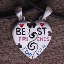 Pingente Best Friends - Amigos - Cara Metade - B C - Estanho