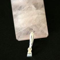 Pingente Prata 925 Com Pedra Natural Quartzo Rosa