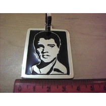 Pingente Corrente Masculina Em Prata 950k Elvis Presley