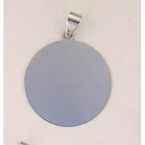 Pingente De Prata Com Foto Gravada / Fotogravação 25.3mm