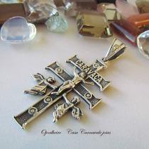 Pingente Cruz De Caravaca Milagrosa Prata Maciça Ojoalheiro