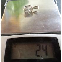 Lindo Pingente Prata 925 Zirconia Ponto De Luz 1 Kilate