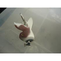 Frete 12,00 Pingente Em Prata 925 Coelhinha Da Playboy-3cm