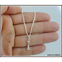 Cordão,corrente,orixá,prata 950 Com Pingente Oxalá
