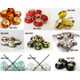 6 Muranos Charms Berloque Vidro Cerâmica Tipo Pandora Vivara