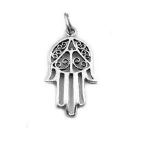 Bling Jewelry Prata Mão De Fatima Hamsa Amuleto Pingente