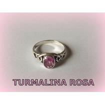 Anel Celta Enchanted Turmalina Rosa Prata 3,3 Gr. - A R O 22