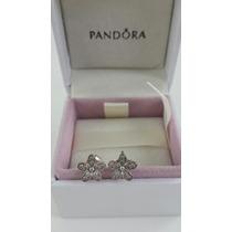 Bincos Delicadas Bem-me-quer Pandora Prata Com Zirconia