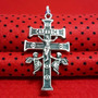 Pingente Prata Pura Maciça 925 Crucifixo Cruz Caravaca