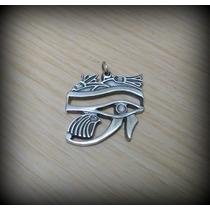 Pingente Egípcio Ra Horus Olho Do Sol ( Direito ) Prata 8 Gr