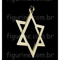 Pingente Estrela De Davi Em Prata 925 Banhado A Ouro 18k