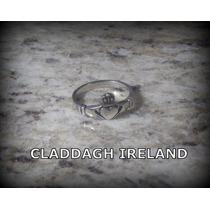 Anel Claddagh Ireland - Pura Prata 925 - 2,6 Gr. - Aro 15
