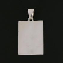 Pingente Placa Com Letra Em Prata