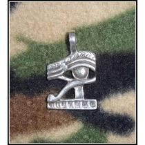 Pingente Egípcio Olho Horus Small - Prata Pura 925 - 9 Gr.