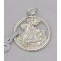 Medalha De Sao Jorge Em Prata