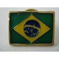 Pin- Boton - Broche Bandeira Do Brasil Motociclista- Militar