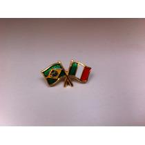 Pins Da Bandeira Do Brasil X Itália