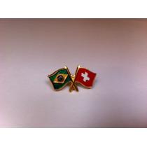 Pins Da Bandeira Do Brasil X Suíça